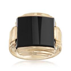 C. 1930 Vintage Black Onyx Ring in 10kt Rose Gold, , default