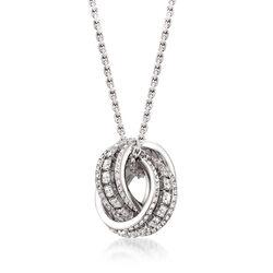 "Swarovski Crystal ""Further"" Pendant Necklace in Silvertone, , default"