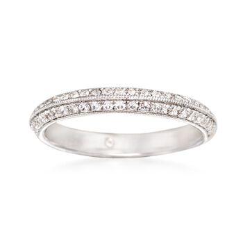 Gabriel Designs .36 ct. t.w. Diamond Wedding Ring in 14kt White Gold, , default