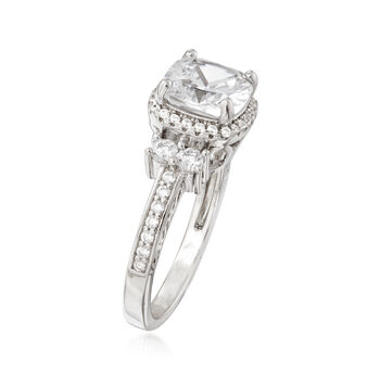2.70 ct. t.w. CZ Ring in Sterling Silver