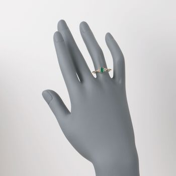 .40 Carat Emerald and .10 ct. t.w. Diamond Ring in 14kt Yellow Gold, , default