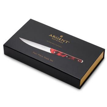 "Argent Orfevres ""Clevedon"" Tortoise 4-pc. 18/10 Stainless Steel Steak Knife Set"