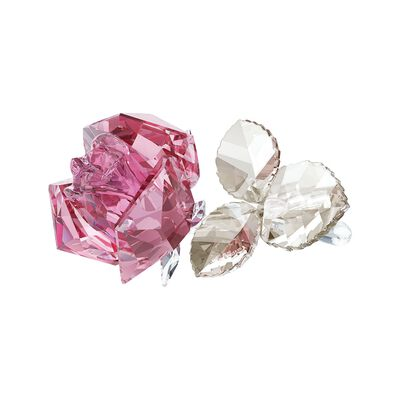 "Swarovski Crystal ""Blooming Rose"" Light Rose Crystal Figurine , , default"