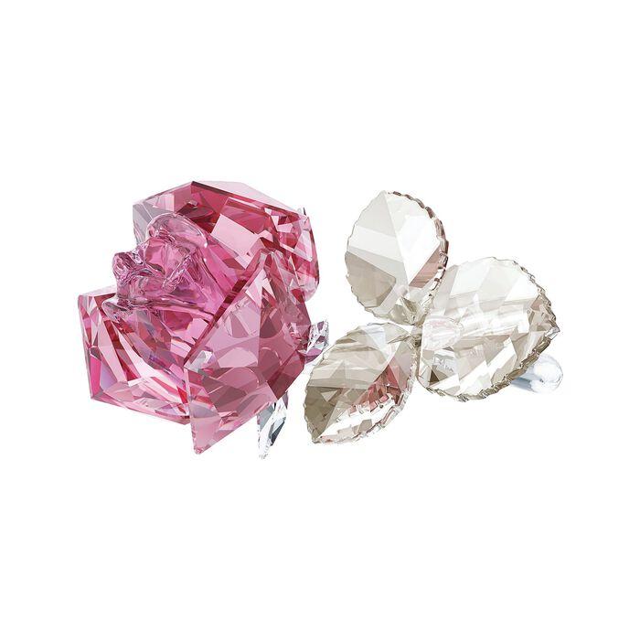"Swarovski Crystal ""Blooming Rose"" Light Rose Crystal Figurine, , default"