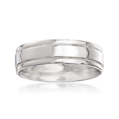 Men's 6mm Platinum Wedding Ring