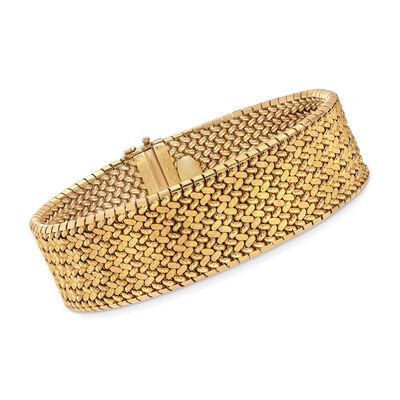 C. 2000 Vintage 18kt Yellow Gold Mesh Bracelet, , default