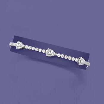 2.40 ct. t.w. Diamond Station Bracelet in 14kt White Gold, , default
