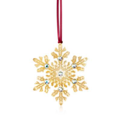 Snowflake Crystal Ornament, , default