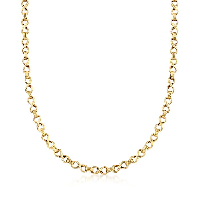 """14kt Yellow Gold Infinity-Link Necklace. 20"""", , default"""