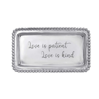 "Mariposa ""Love is Patient Love is Kind"" Beaded Tray"