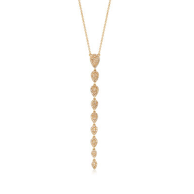 .49 ct. t.w. Diamond Graduating Drop Necklace in 14kt Yellow Gold