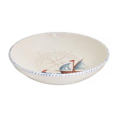 Abbiamo Tutto Italian Sailboat Ceramic Round Bowl, , default