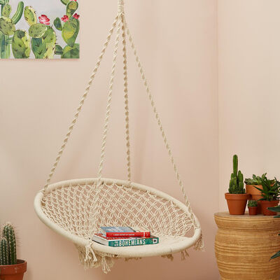 """""""Out of Africa"""" Macrame Hanging Chair"""