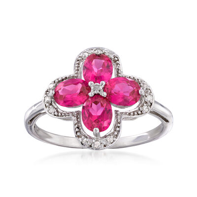 .70 ct. t.w. Simulated Ruby Ring in Sterling Silver