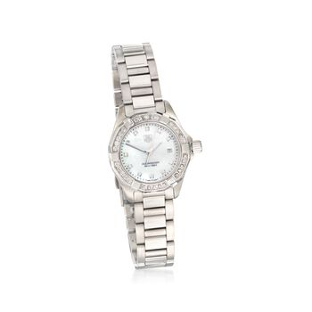 TAG Heuer Aquaracer Women's 27mm .44 ct. t.w. Diamond Watch in Stainless Steel , , default
