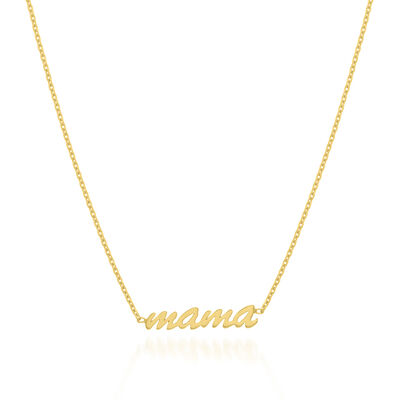 "14kt Yellow Gold ""Mama"" Adjustable Necklace, , default"