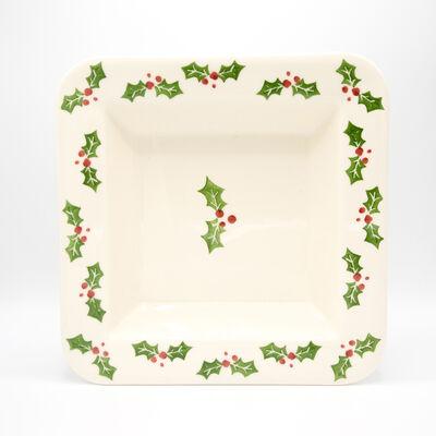 """Euro Ceramica """"Natal"""" Square Platter, , default"""
