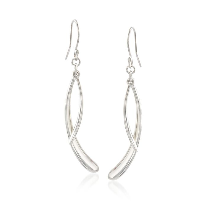 "Zina Sterling Silver ""Contemporary"" Double Drip Drop Earrings, , default"