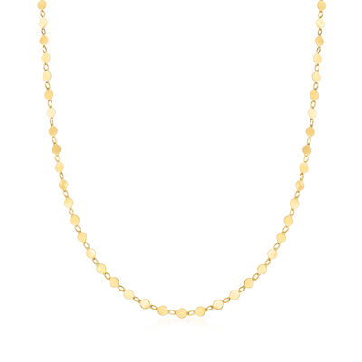 14kt Yellow Gold Circle Disc Necklace