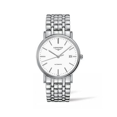 Longines Presence Men's 38.5mm Automatic Stainless Steel Watch, , default