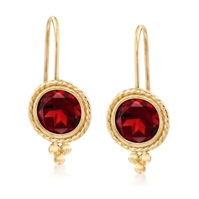 2.00 ct. t.w. Garnet Drop Earrings in 14kt Yellow Gold, , default