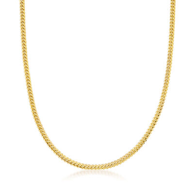 Men's 14kt Yellow Gold Cuban-Link Necklace