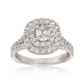 Henri Daussi 1.52 ct. t.w. Diamond Engagement Ring in 18kt White Gold, , default