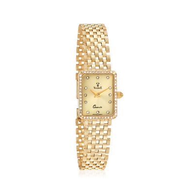 Vicence Women's 16mm .24 ct. t.w. Diamond Watch in 14kt Yellow Gold, , default