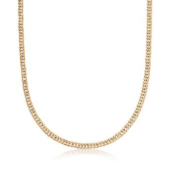 14kt Yellow Gold Curb-Link Necklace, , default