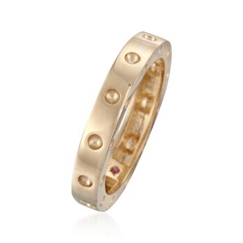 "Roberto Coin ""Pois-Moi"" 18kt Yellow Gold Dotted Ring. Size 7"