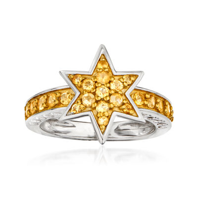 .60 ct. t.w. Citrine Star Ring in Sterling Silver