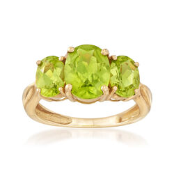 C. 1990 3.45 ct. t.w. Peridot Ring in 14kt Yellow Gold, , default