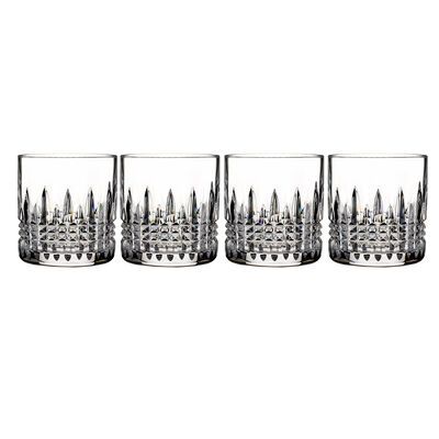 "Waterford Crystal ""Connoisseur"" Set of 4 Lismore Diamond Straight-Sided Tumbler Glasses"