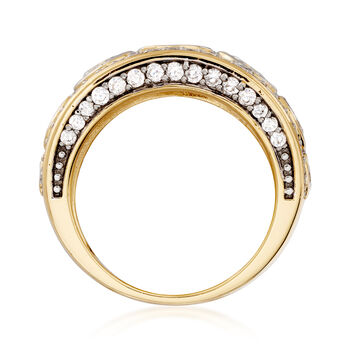 3.50 ct. t.w. CZ Ring in 14kt Yellow Gold Over Sterling Silver