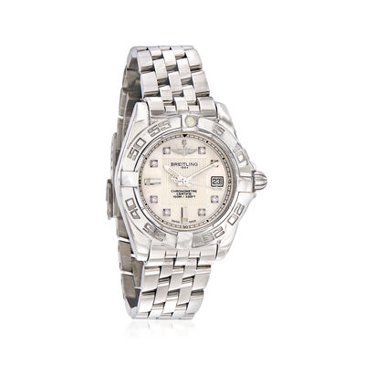 Breitling Galactic Women's 32mm Mother of Pearl Stainless Steel Watch, , default