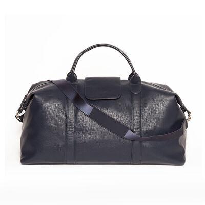 "Brouk & Co. ""Standford"" Navy Genuine Leather Duffel Bag, , default"
