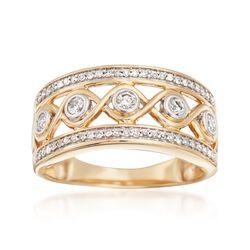 .33 ct. t.w. Diamond Openwork Ring in 14kt Yellow Gold, , default