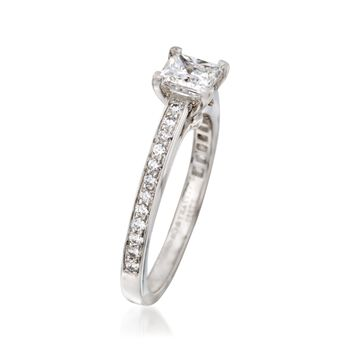 C. 2000 Vintage Tiffany Jewelry 1.00 ct. t.w. Certified Diamond Ring in Platinum. Size 6