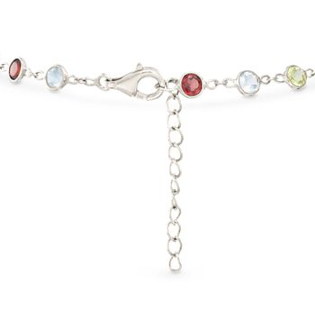 5.25 ct. t.w. Multi-Stone Bracelet in Sterling Silver. 7.5""