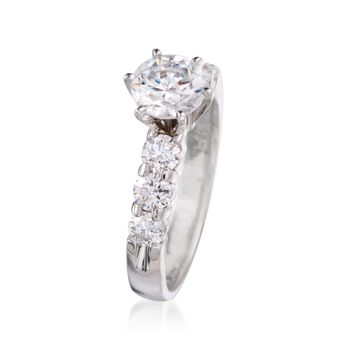 .85 ct. t.w. Diamond Engagement Ring Setting in 14kt White Gold, , default
