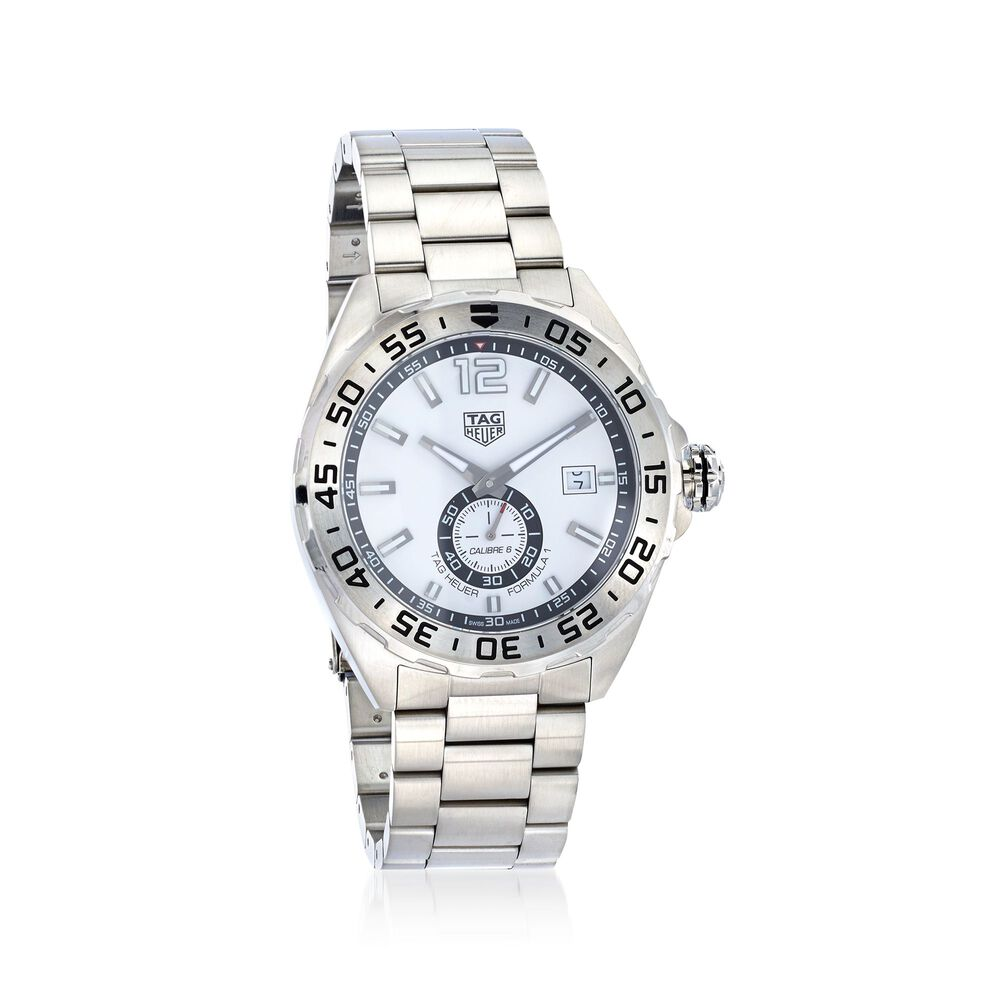 313483c4f87 TAG Heuer Formula 1 Automatic Men s 43mm Stainless Steel Watch - White  Dial