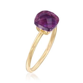2.80 Carat Amethyst Ring in 14kt Yellow Gold