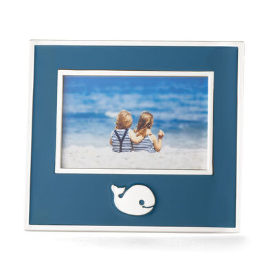 "Reed and Barton ""Mystic Sea"" Blue Whale Picture Frame, , default"