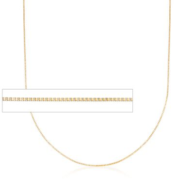 .5mm 14kt Yellow Gold Box Chain Necklace, , default