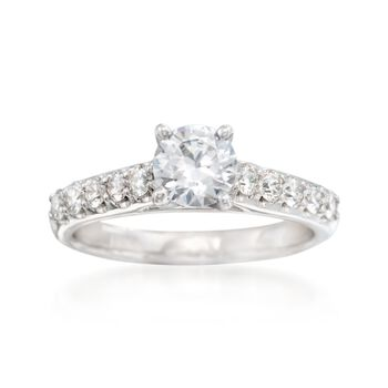 .50 ct. t.w. Diamond Engagement Ring Setting in 14kt White Gold, , default