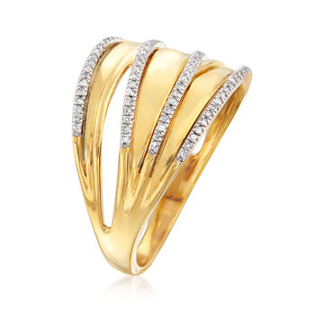 .20 ct. t.w. Diamond Highway Ring in 18kt Gold Over Sterling