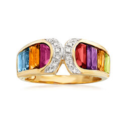 3.20 ct. t.w. Multi-Stone Ring in 14kt Yellow Gold, , default