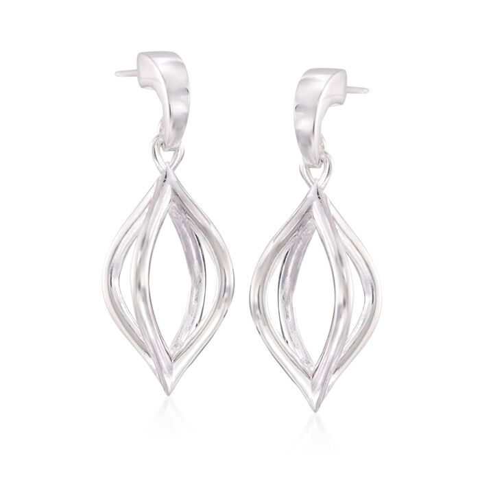 "Zina Sterling Silver ""Wired"" Pod Earrings, , default"
