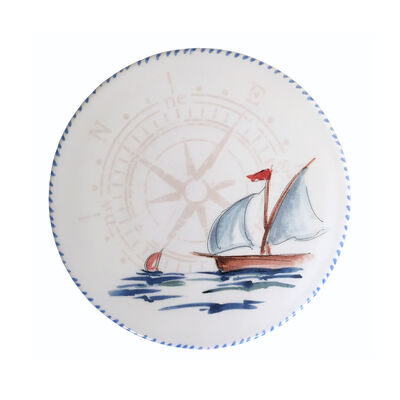 Abbiamo Tutto Italian Ceramic Sailboat Trivet/Cheeseboard, , default