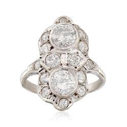 C. 1950 Vintage 2.25 ct. t.w. Diamond Dinner Ring in 14kt White Gold, , default